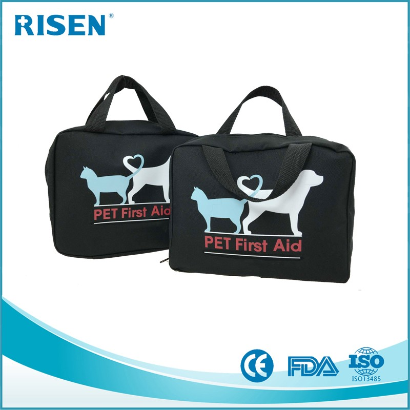 FDA approved customize logo printing mini portable pet first aid kit first aid pouch
